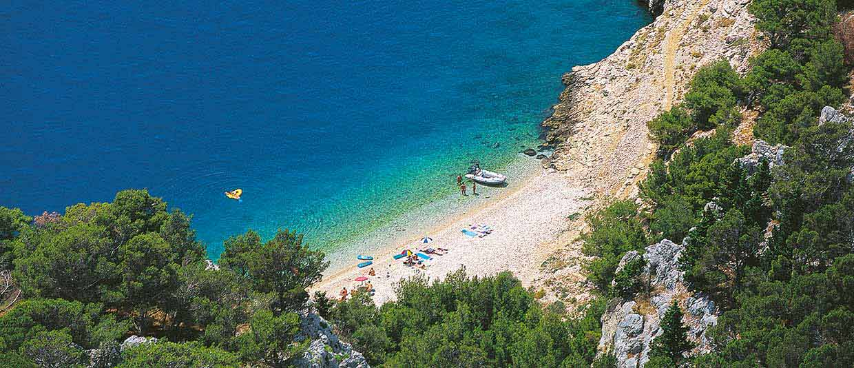 The best FKK beach on the Adriatic - Beach Nugal Makarska