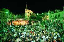 Concerts at the central square in Makarska
