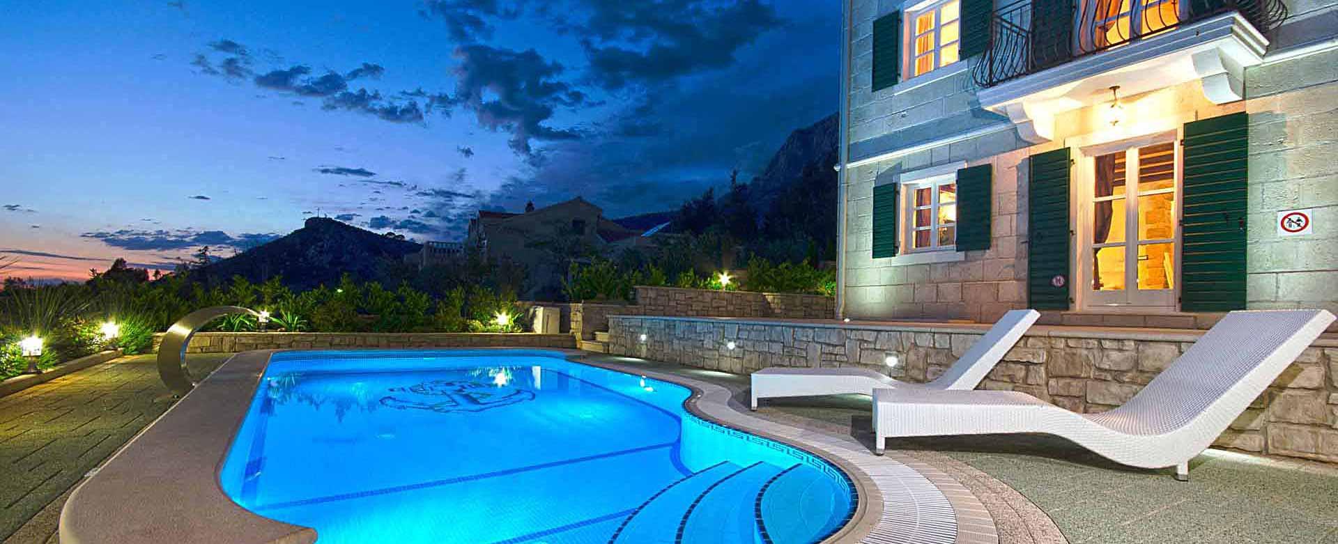Ferienhaus makarska mit pool for Kroatien villa mit pool