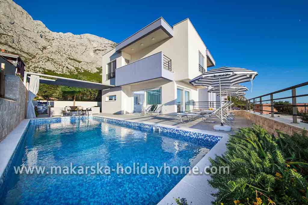 Ferienhaus mit pool in kroatien makarska villa great hill for Ferienhaus am meer