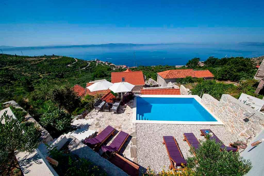 Ferienhaus podgora mit pool villa dani for Kroatien villa mit pool